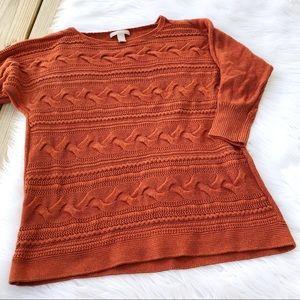 Banana Republic Orange Woven Knit Sweater
